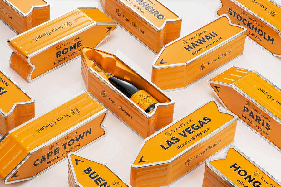 Empaque para champagne de lujo