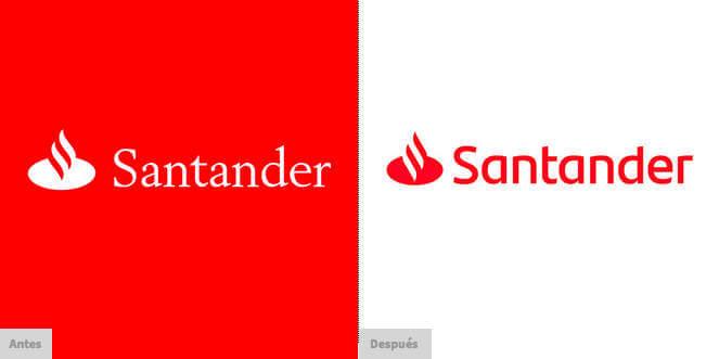 Nuevo logotipo del Banco Santander