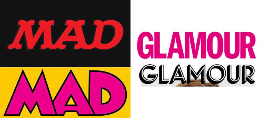 Nuevos logotipos de MAD y Glamour