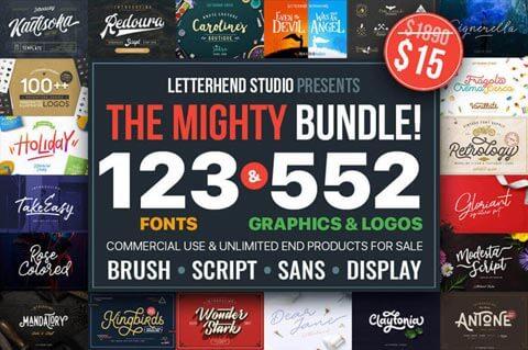 123 familias tipográficas y 552 recursos gráficos