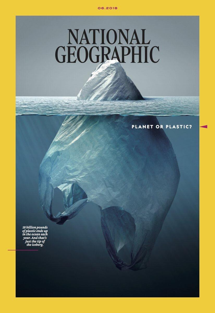 Portada de National Geographic iceberg de plástico