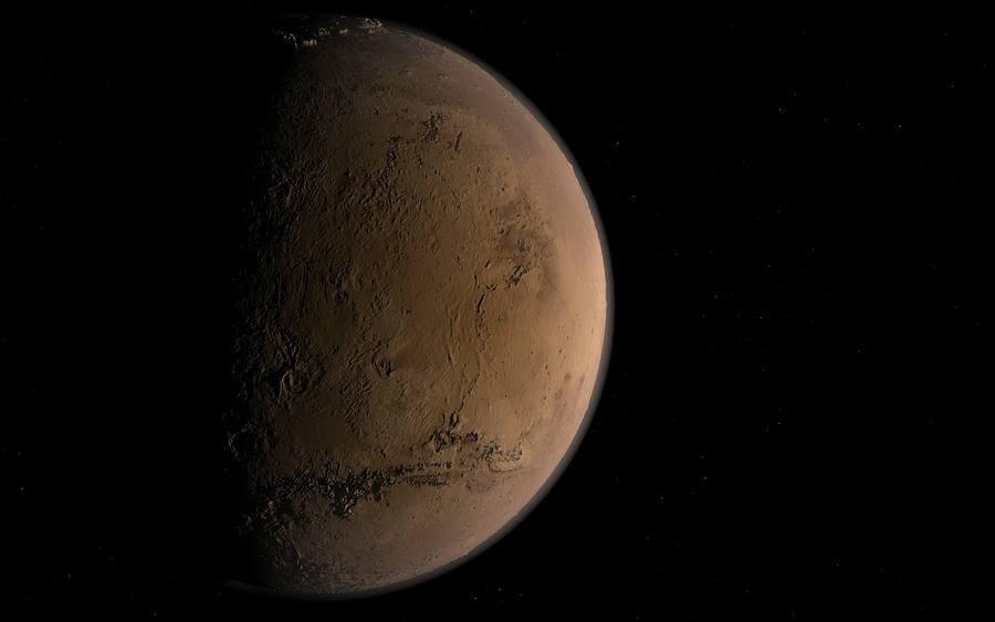 Póster de la llegada a Marte