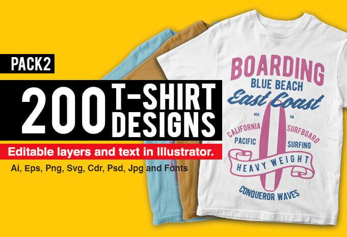 200 diseños para playeras