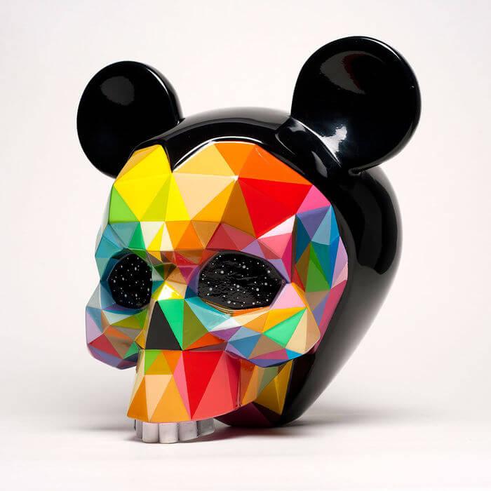Cráneos intervenidos por Okuda