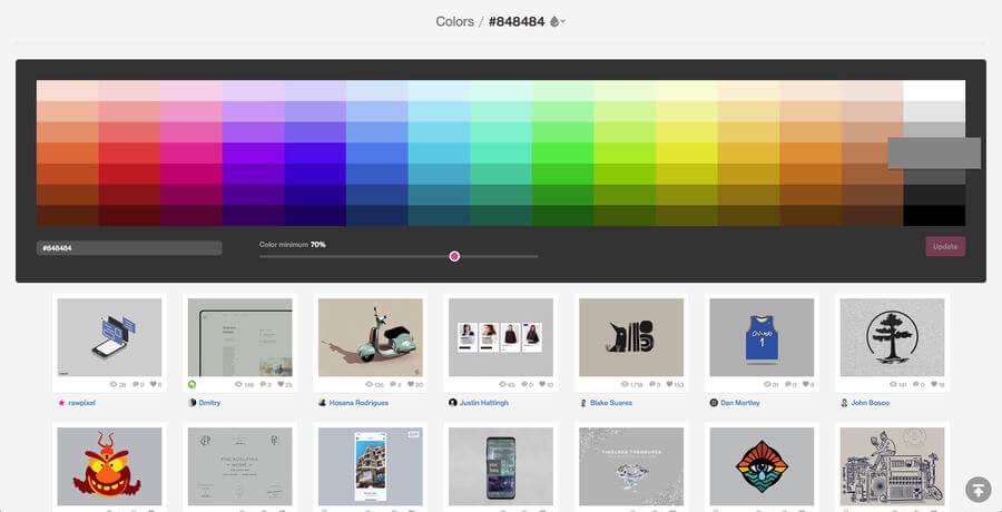 Diseños-organizados por paletas de color