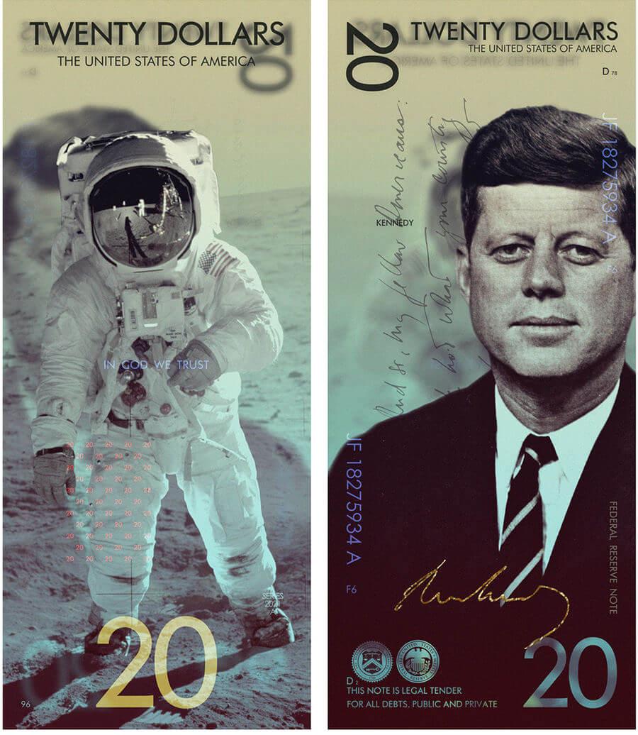 Nuevos billetes de Estados Unidos