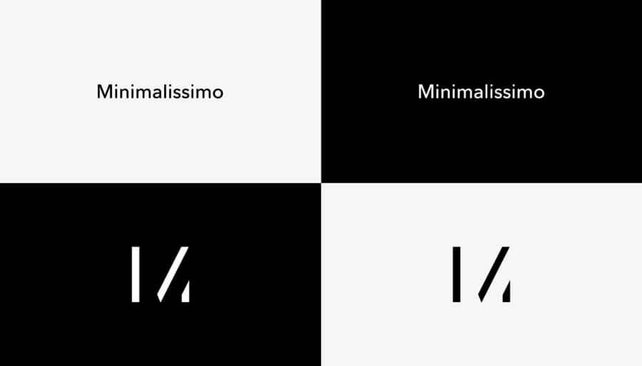 Espacio positivo y negativo en el diseño de logotipo