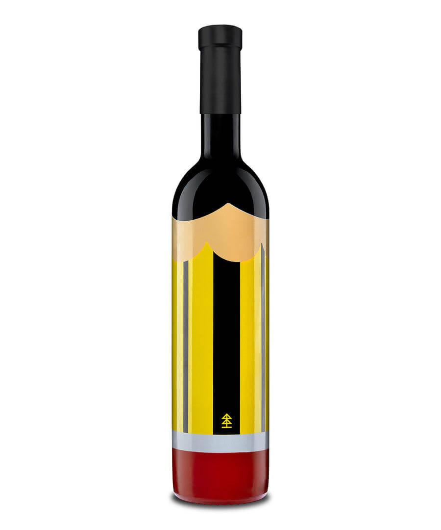 Botellas de vino con forma de lápiz