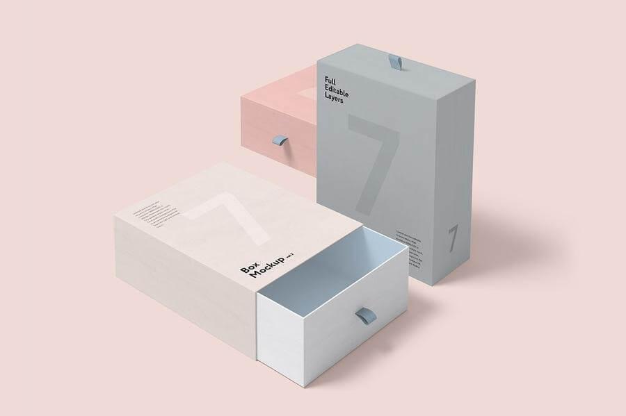 Maquetas de cajas