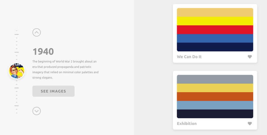 Paletas de color históricas