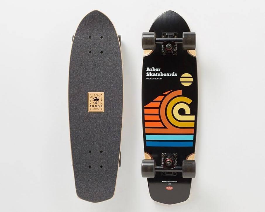 Tablas de skate con diseño de Aaron Draplin