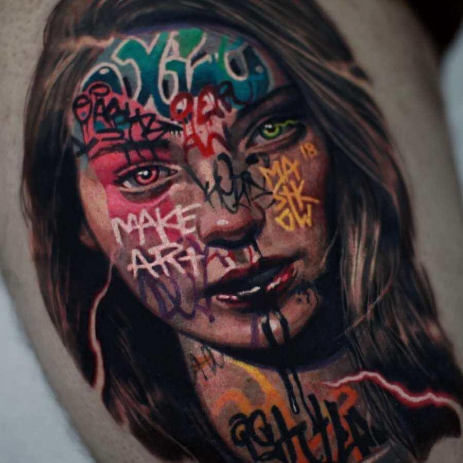 Tatuajes de graffitis