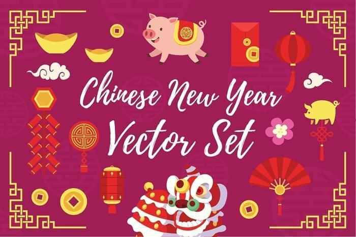 Vectores para celebrar el año nuevo chino