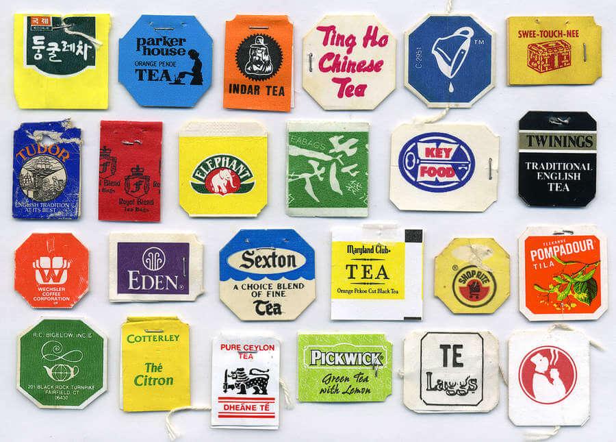 Etiquetas de té