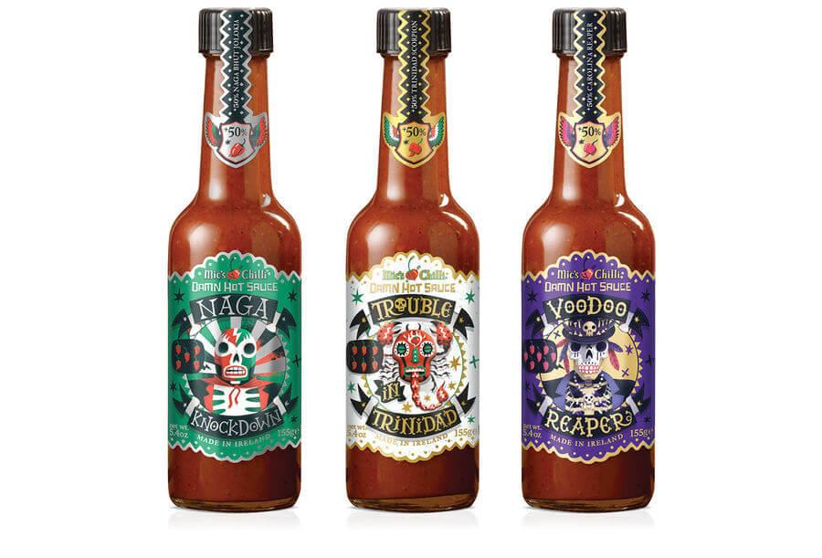 Etiquetas para salsas picantes