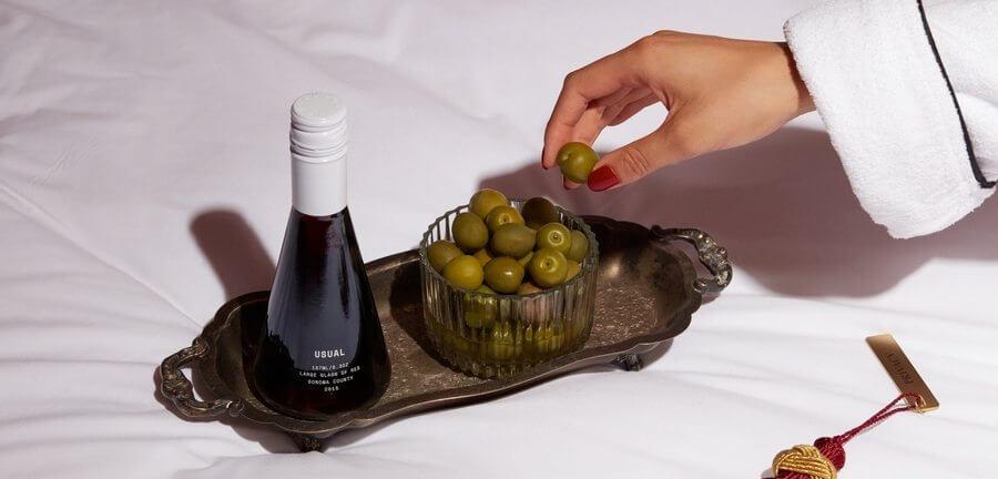 Botellas de vino de un solo uso