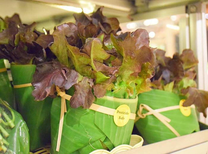 Embalaje de hojas de plátano