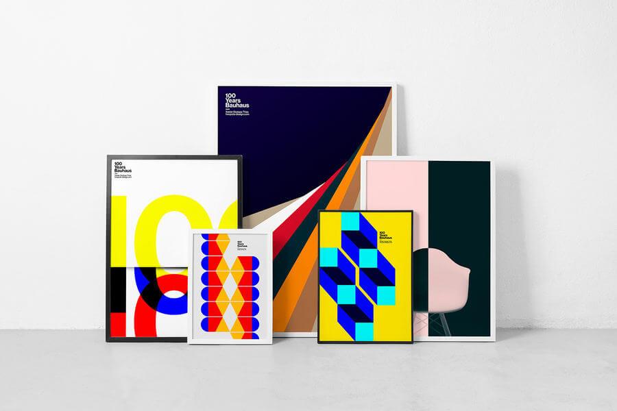 Pósters 100 años de Bauhaus