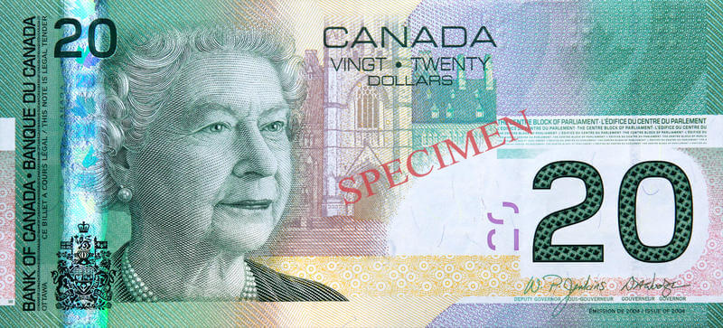 Historia del billete de Canadá