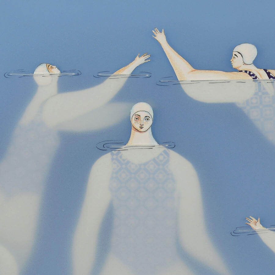 Ilustraciones hechas con papel