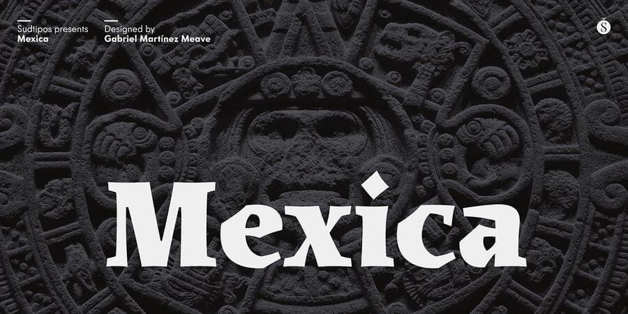 Fuente tipográfica Mexica