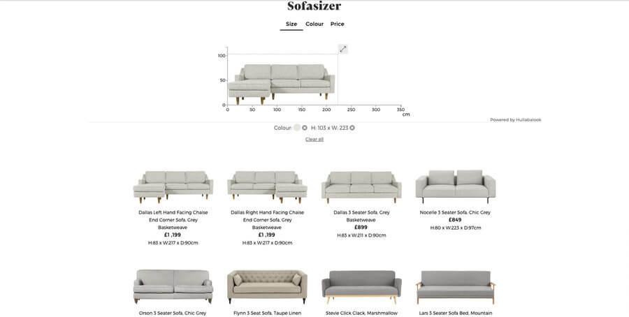 Buscador de sofás