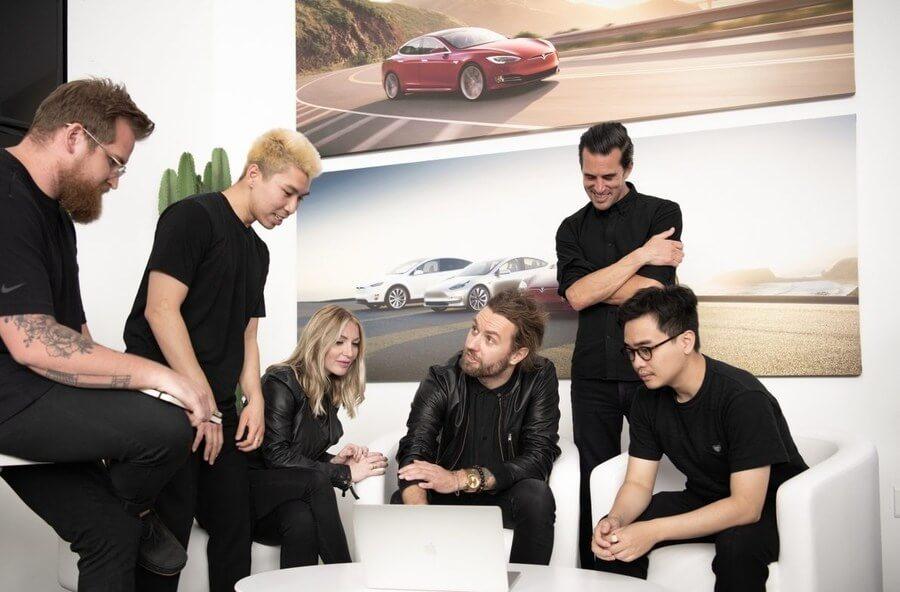Estudio de diseño en Tesla