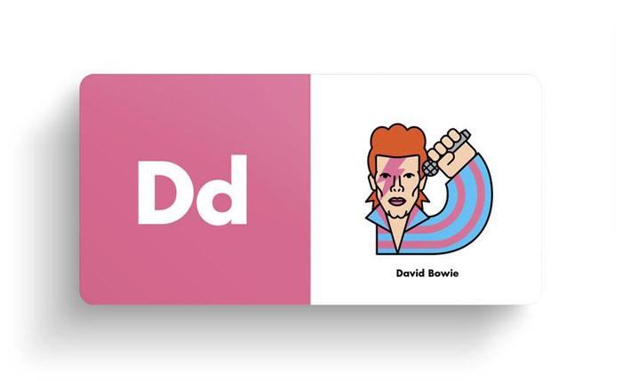 El alfabeto ilustrado del rock David Bowie