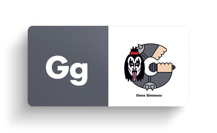 El alfabeto ilustrado del rock Gene Simmons