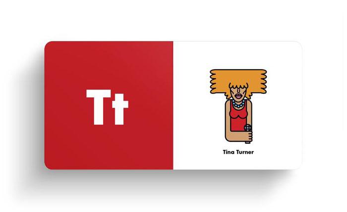 El alfabeto ilustrado del rock Tina Turner
