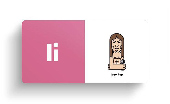 El alfabeto ilustrado del rock Iggy Pop