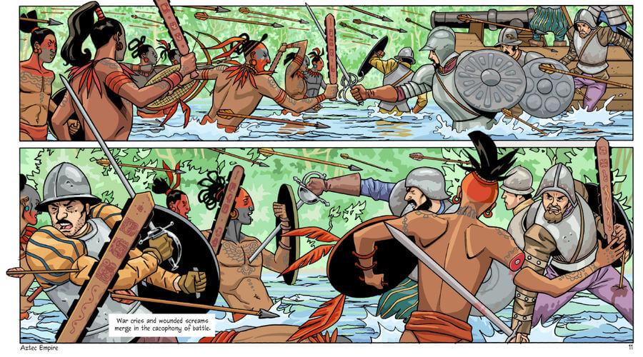 Cómic inspirado en el imperio Azteca