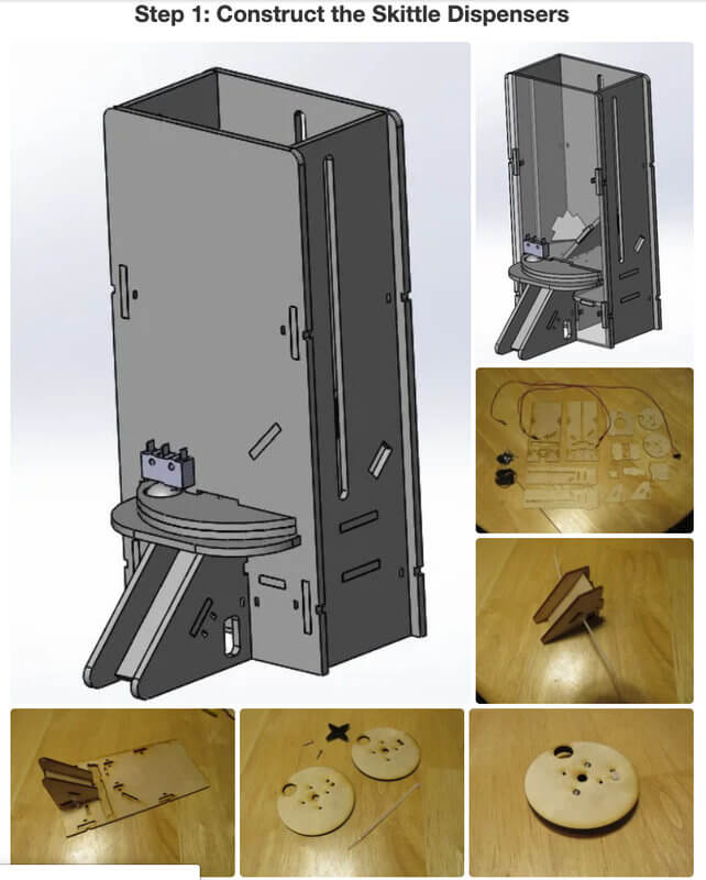Impresora con Skittle