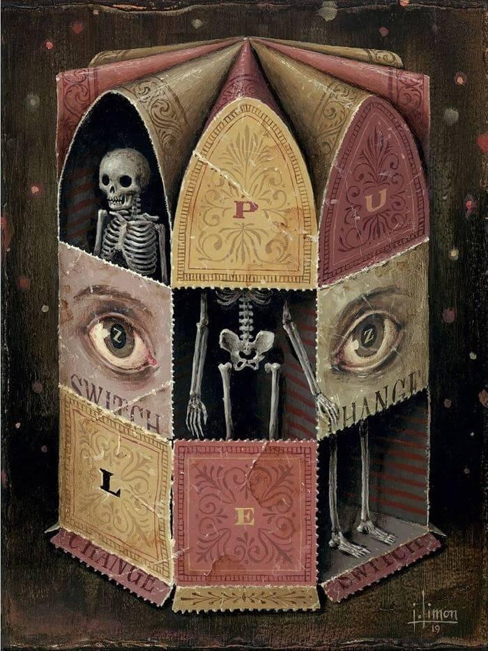 Pinturas con esqueletos