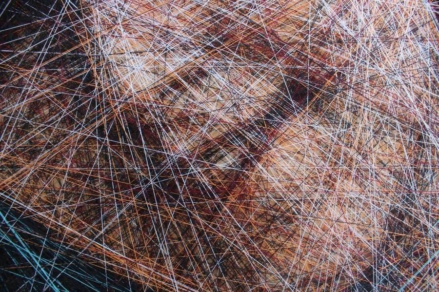 Retratos hechos con hilos