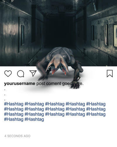 Ejemplos de animaciones en Instagram que rompen la cuarta pared