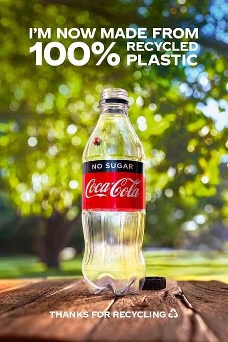 Botellas Coca-Cola recicladas
