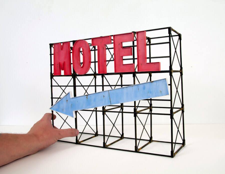 Publicidad exterior en miniatura