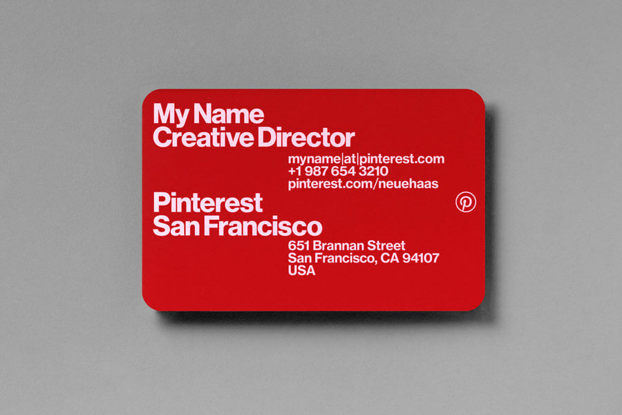 Identidad visual de Pinterest