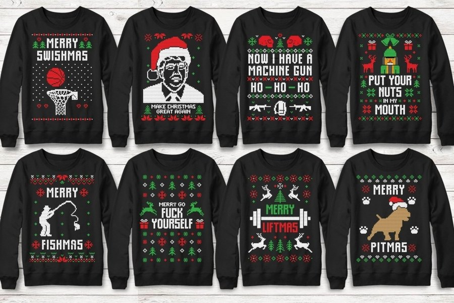 Ugly Christmas Sweater en SVG