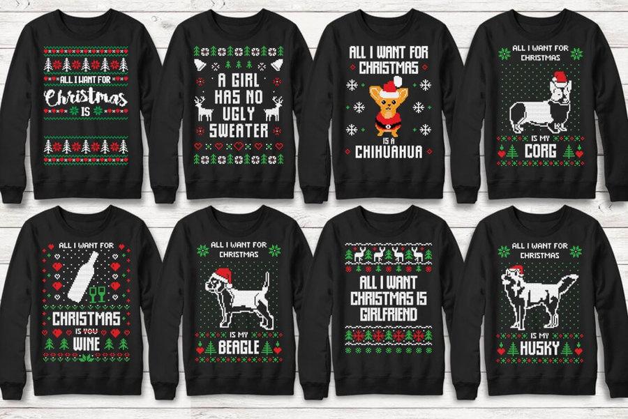 Ugly Christmas Sweater en SVG