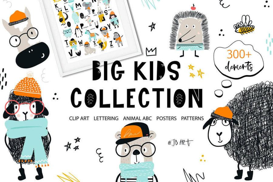 Dibujos infantiles en vectores
