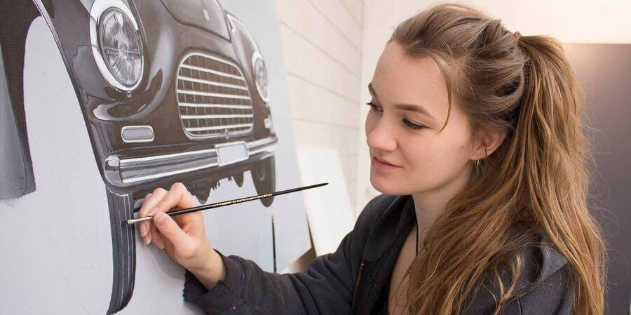 Pinturas hiperrealistas de autos
