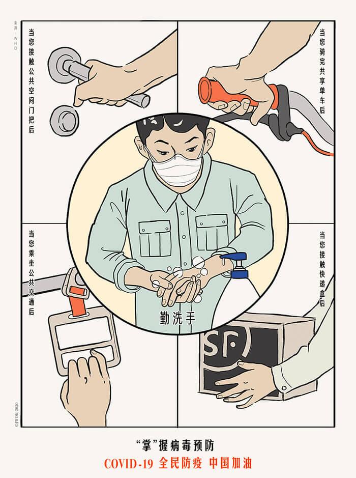Carteles para combatir el Coronavirus