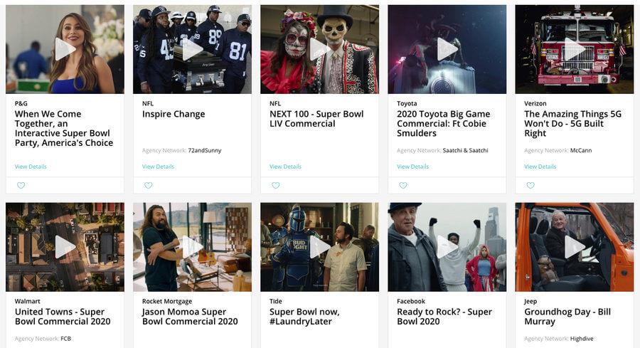 comerciales del Super Bowl 2020