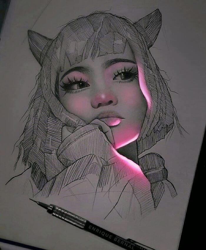 Dibujos con brillos digitales