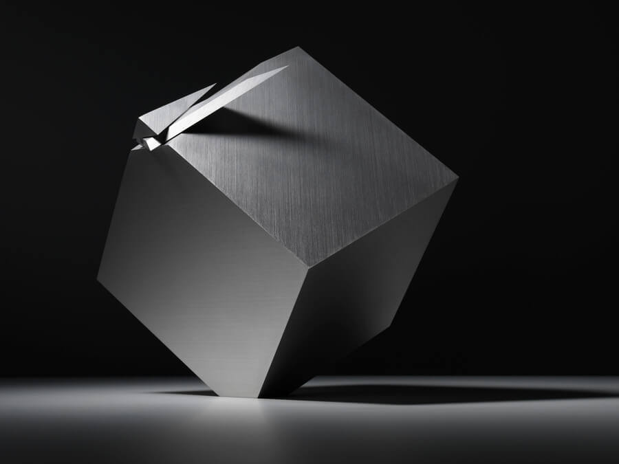 Reloj con forma de cubo