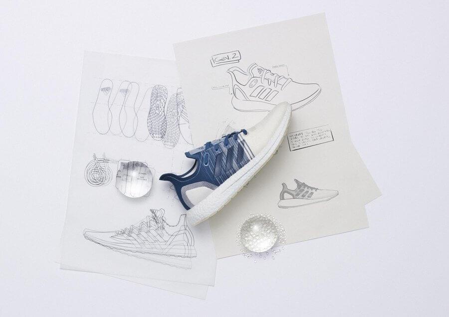 tenis adidas hechos con materiales reciclados