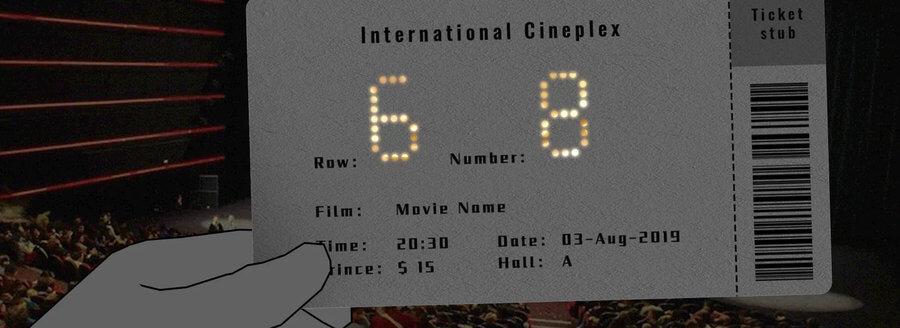 diseño boletos de cine