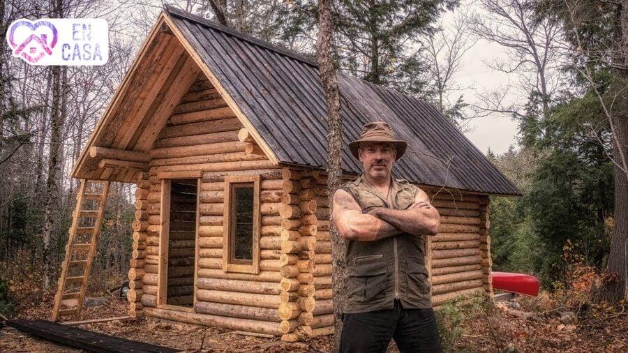 construcción de una cabaña